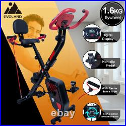 3 IN 1 Foldable Magnetic Exercise Bike Home Gym Fitness Workout Bicycle Cycling