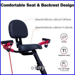 3 IN 1 Folding Magnetic Exercise Bike Home Gym Fitness Bicycle Cycling Machine