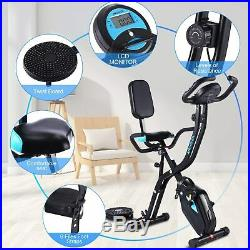 3 in 1 Folding Exercise Bike Cycling Cardio Workout Fitness Machine Home 130 kg
