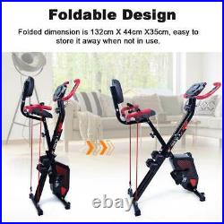 3IN1 Folding Magnetic Exercise Bike Fitness Workout Training Home Gym Bicycle