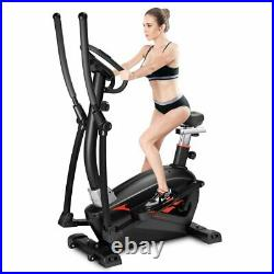 4-IN-1 Elliptical Cross Trainer And Exercise Bike Cardio Workout Machine -UK