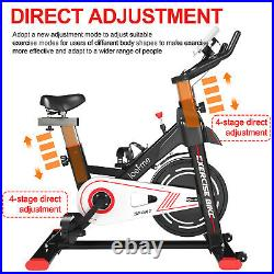 8KG Magnetic Exercise Bike Indoor Cardio Workout LCD Monitor Adjustable Seat Gym