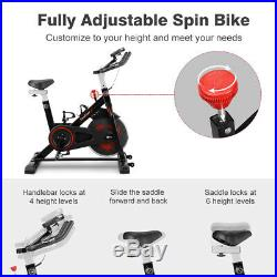 Black Exercise Bike Home Gym Bicycle Cycling Cardio Fitness Training Indoor AA
