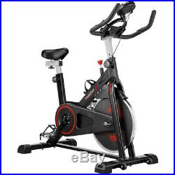 Black Exercise Bike Home Gym Bicycle Cycling Cardio Fitness Training Indoor LCD