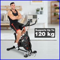 Exercise Bike Adjustable Indoor Cycling Training Home Gym Cardio Workout Machine