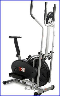 Exercise Bike Elliptical Cross Trainer 2 in 1 Cardio Fitness Workout Machine