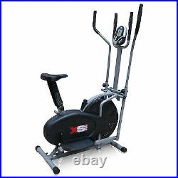 Exercise Bike + Elliptical Cross Trainer 2in1- Cardio Fitness Workout Machine