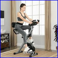 Exercise Bike Indoor Cycling Bike Home Fitness Trainer Foldable withPulse Sensor
