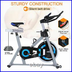 Exercise Bikes Heavy Duty Trainer Cycling Bike Fitness Workout 15KG Flywheel New