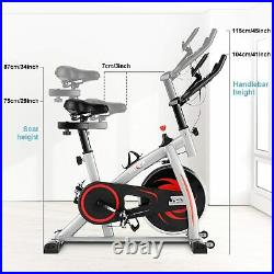 Exercise Bikes Indoor Cycling Bike Bicycle Home Fitness Workout Machines Grey UK