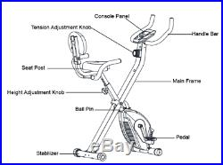 Fit4home Olympic Es-892 Resistance Exercise Bike Foldable X Bike Home Fitness