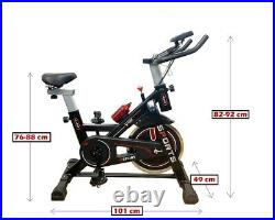Fitness Exercise Spin Bike Indoor Cycling Home Gym Flywheel LCD Sport Workout