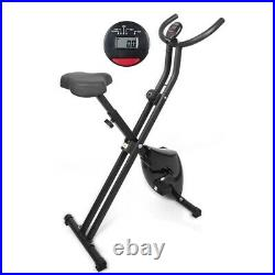Folding Exercise Bike Compact Stationary Cardio Cycling X-Bike Home Gym Fitness