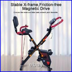 Folding Magnetic Aerobic Exercise Bike Home Gym Fitness Bicycle Cycling Machine