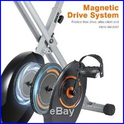 Folding Magnetic Exercise Bike Upright Cycling Fitness Cardio Workout Home Gym A