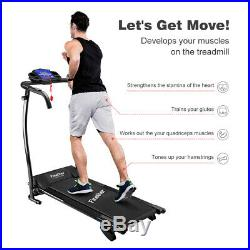 Folding TREADMILL Electric Motorised Running Machine LED Cardio Fitness Workout