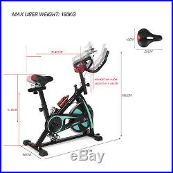 Green Exercise Spin Bike Home Gym Bicycle Cycling Cardio Fitness Training Indoor
