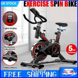 Heavy Duty Exercise Spin Bike LCD Fitness Bicycle Cycling Gym Cardio Workout UK