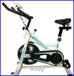 Home Gym Spin Bike Exercise Fitness Bike Fitness Cardio Workout Machine white