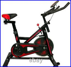 Home Spin Bike Gym Exercise Fitness Bike Fitness Cardio Workout Machine red