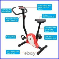 Indoor Excercise Bike Cardio With Dual Digital Display Home Fitness Exercise Red