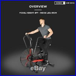 JLL Sonic 1 Air Bike, Air Resistance, Tablet Holder, Crossfit Training, Workout