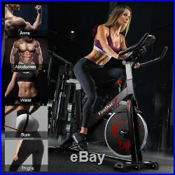 KUOKEL Exercise Bike Home Fitness Cardio Workout Machine Adjustable Resistance A