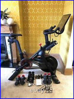 Peloton Spin Bike w full Bike Family kit Items Excellent and New condition