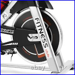 Silver Exercise Bike Home Gym Bicycle Cycling Cardio Fitness Training Indoor