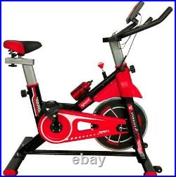 Spin Excercise Bike Fitness Cardio Training Gym Home Sports Fat Burn Pro Red