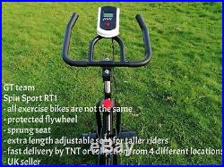 Spinning exercise bike Indoor Home gym workout cycling by GT team UK Seller