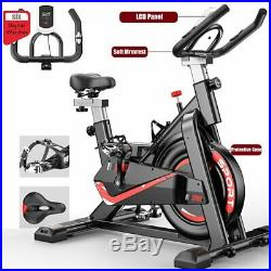 UK Black Heavy Duty Exercise Spinning Bike Home & Gym Bicycle Cycling Cardio