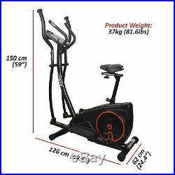 Viavito Setry 2 in 1 Fitness Workout Elliptical Cross Trainer & Exercise Bike